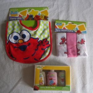 Sesame Street Baby Elmo Lot Of 3 Baby Gifts